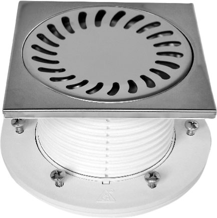 Floor drain with collar - stainless DN 50 (PV50N-PR4)