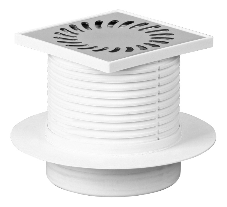 Foor drain with collar - stainless grid DN 50 (PV50N-L2)