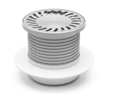 Foor drain with collar - stainless grid DN 50 (PV50N-L3)