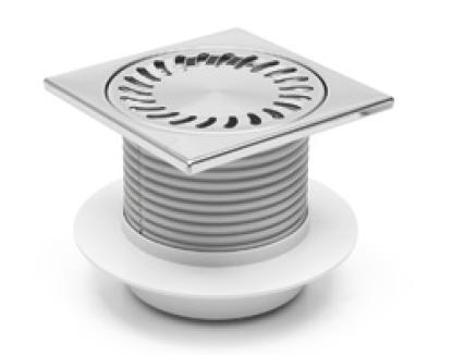 Foor drain with collar - stainless grid DN 50 (PV50N-L4)