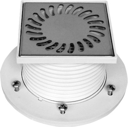 Foor drain with collar - stainless grid DN 50 (PV50N-PR2)
