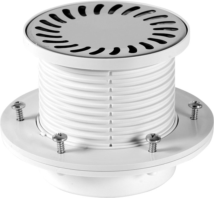 Floor drain with collar - stainless grid DN 50 (PV50N-PR3)