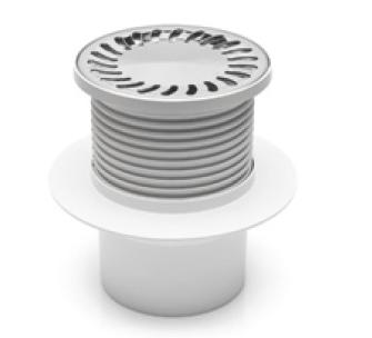 Foor drain with collar, round, stainless grid DN 50 (PV110N-L3)