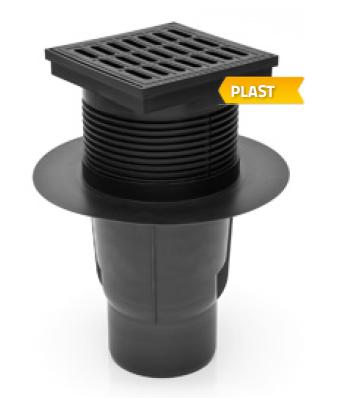 Bottom street drain with dry flap (KVS110S)