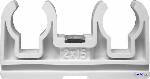 Double clamp 2x15 with nut M6 (Z20015Cu)