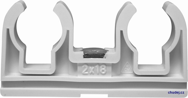 Double clamp D2x18 with nut M6 (Z20018Cu)