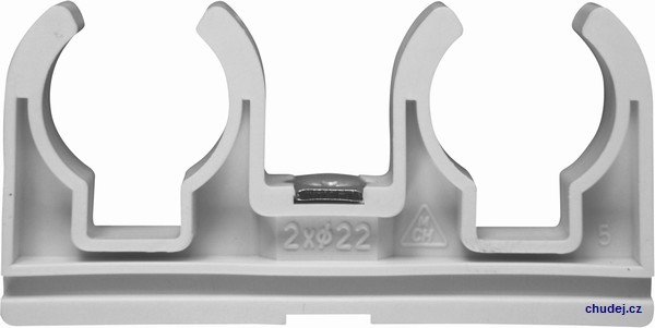 Double clamp 2x22 with nut M6 (Z20022Cu)